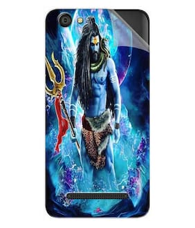 Snooky Printed Lord Shiva Rudra Pvc Vinyl Mobile Skin Sticker For LYF Wind 5