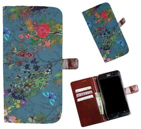 Snooky Printed Colorful Pattern Mobile Flip Cover of Xiaomi Rdmi Y1