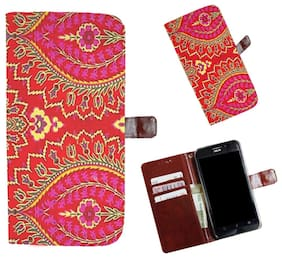 Snooky Printed Colorful Pattern Mobile Flip Cover of Vivo Y15