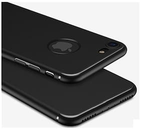 Soft Silicone All Sides Protection Slim Back Case Cover For Apple iPhone 7 (4.7 inch Screen) Pitch Black