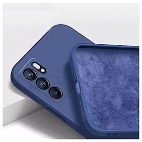 Soft Silicone Slim Matte Liquid Silicone TPU Shockproof Slim Back Cover Case for Oppo Reno 6 Pro (Blue)