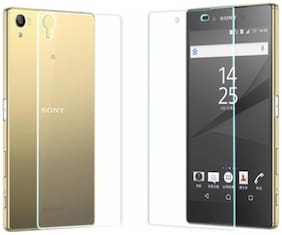Sony Xperia M5 Transparent back cover (clear) with tempered glass