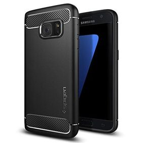 Spigen Samsung Galaxy S7 Case Rugged Armor (Black) 555CS20007