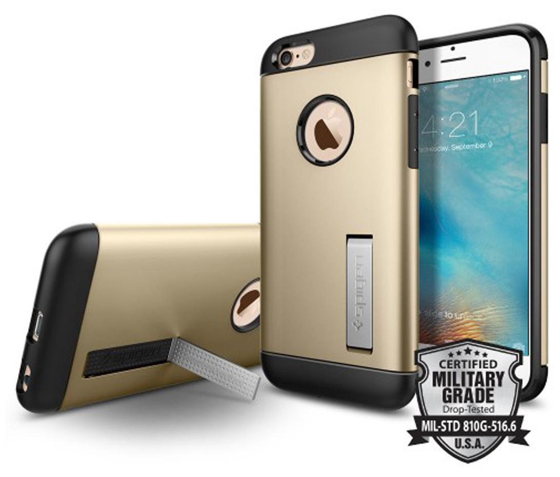 new products dbc61 51994 Spigen iPhone 6S/6 Case Slim Armor (Champagne Gold) ( SF coated ) SGP11607