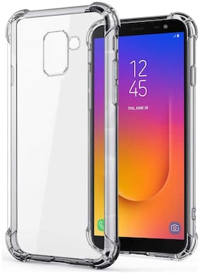 SPINZZY Rubber Back Cover For Samsung Galaxy J6 ( Transparent )
