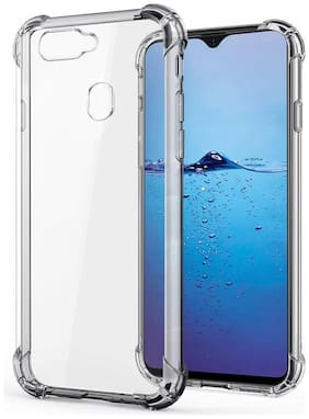 SPINZZY Rubber Back Cover For Oppo F9 Pro ( Transparent )