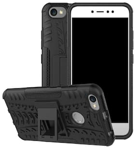 SPINZZY Rubber Back Cover For Redmi Y1 ( Black )
