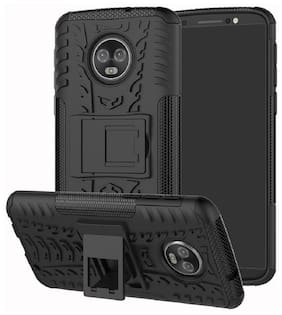 Spinzzy Case With Stand For Motorola Moto G6 Plus (Black)