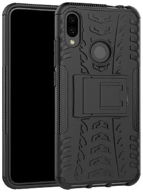 SPINZZY Plastic Armor Case For Redmi Note 7 Pro ( Black )