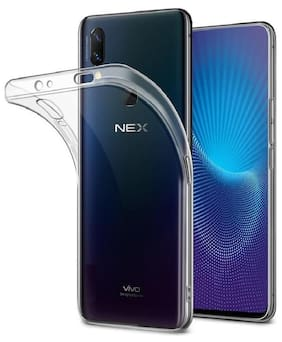 Spinzzy Vivo NEX Clear Slim Fit Back Case with Transparent Flexible Soft TPU  Shock-Absorption Cover -Retail Packaging - HD Clear