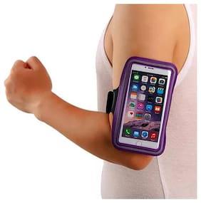 FOKATKART Rubber Arm Band Case For Universal ( Purple )