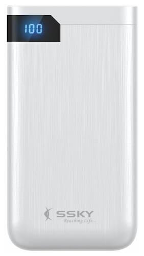 SSKY 10000 mAh Li-Polymer Power Bank (Silver)