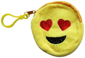Starford Smiley Emoticon Faces Cotton Coin Purse Pouch Case Smiley Wallet Pouch Case Return Gift Small Sling Bag Earphone Cover