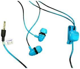 13-HI-13 Stereo earphone stylish new wired headset with mic (blue, in the ear) In-ear Wired Headphone ( Assorted )