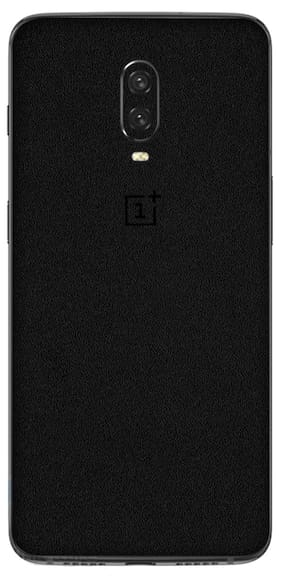 StickOn OnePlus 6T Vinyl 3M Premium Series Mobile Skin (Only Back Side) - Black Color