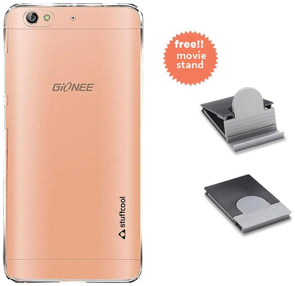 Stuffcool Clair Transparent Hard Back Case Cover for Gionee S6   Clear With  Freebies