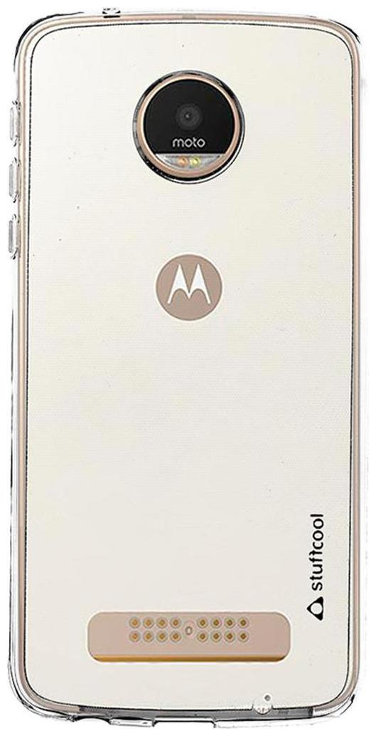 Stuffcool Pure Transparent Soft Back Case Cover for Motorola Moto Z Play   Clear by Nissan Enterprises