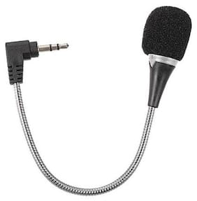 Stylish 3.5MM Clip on Short Flexible Microphone Suitable for All Smartphones, Laptop, Desktop, Notebook