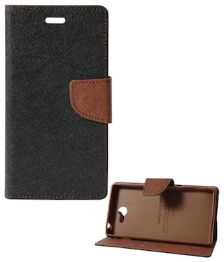 7ae757c1a Buy Case Flip Cover For Samsung Galaxy J7 Prime Artificial Leather ...