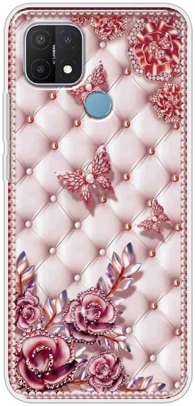 OPPO A15 Silicone Back Cover By Sunrise ( Multi )