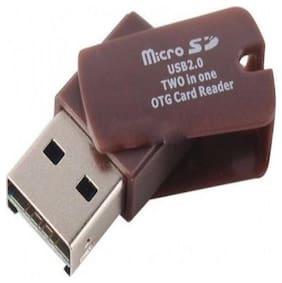 SUREELEE Micro SD O Card Reader  (Brown)