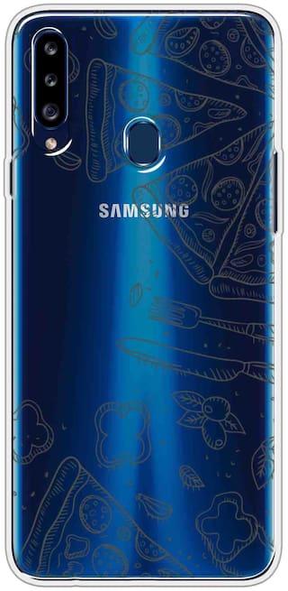 Samsung Galaxy A20s Silicone Back Cover By SVISINDIA ( Multi )