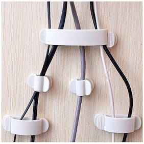SYGA Set Of Cable Management Clips Adhesive Wire Clips Wall Multi-Pack Cable Tie Holder Desk Cable Organizer Durable Cord Management