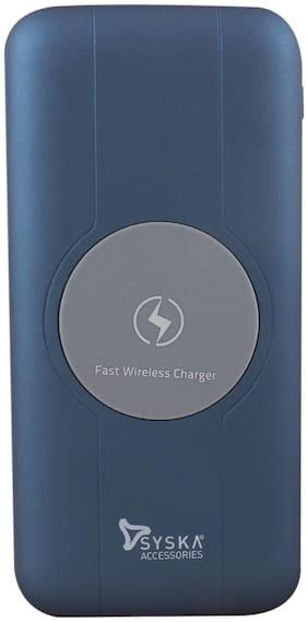 Syska 1001J Blue Wireless 10000 mAh  Li-Polymer Power Bank