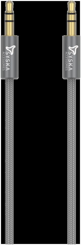 Syska AUX 3.5 mm Cable ( 1.5 m , Grey )