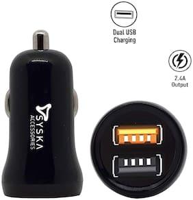 Syska 2.4 A Car Charger - 2 USB Ports