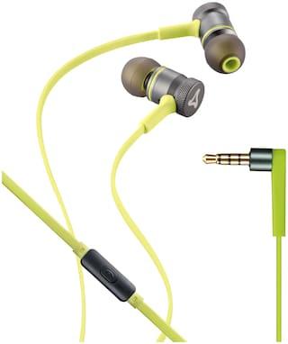 Syska HE2000 In-Ear Wired Headphone ( Grey & Green )