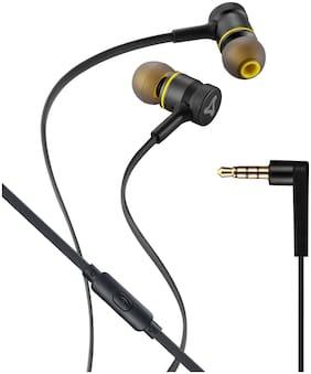 Syska HE2000 In-Ear Wired Headphone ( Black & Yellow )