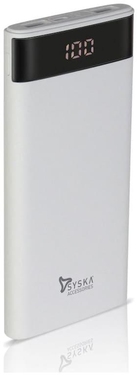 Syska P1003-WH 10000 mAh Portable Power Bank - White