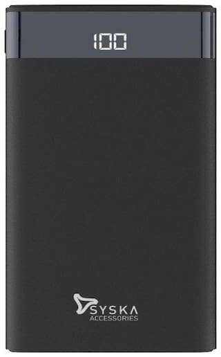 Syska 10000 mAh Power Bank - Black