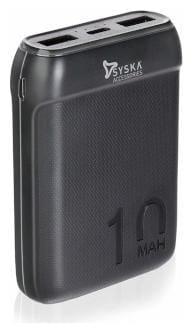 Syska P1016B 10000 mAh Power Bank - Black