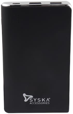 Syska P1019 Black 10000 mAh Portable Power Bank - Black
