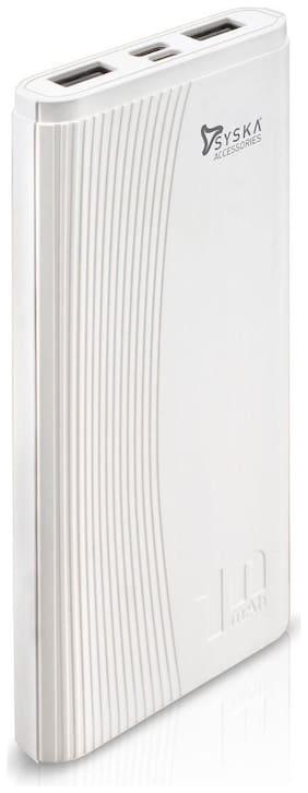 Syska 10000 mAh Power Bank - White