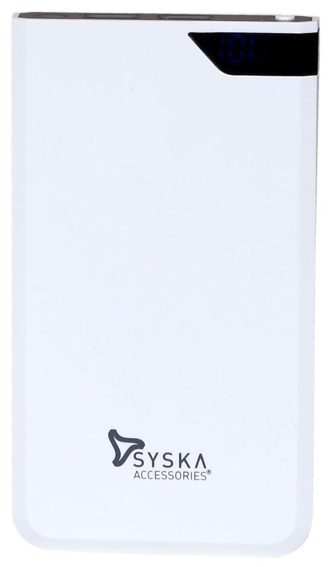 Syska 6000 mAh Power Bank   Black   White by Electrop Store