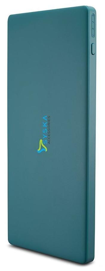 Syska Power Slice 100 (10000 mAh Li-Polymer Power Bank) (BLUE)