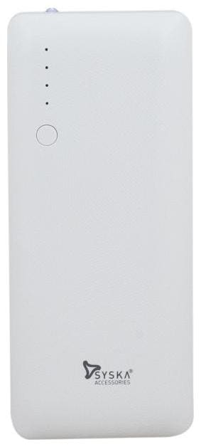 Syska Syska Tube 100 White 10000 mAh Portable Power Bank - White