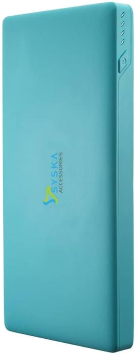 Syska Power Slice 100 10000 mAh Power Bank - Blue