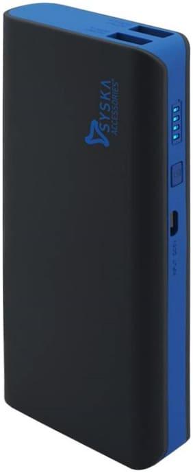 Syska X110 11000 mAh Power Bank - Black  , Blue
