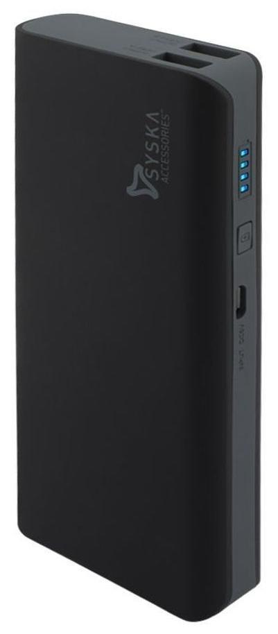 Syska X110 11000 mAh Portable Power Bank   Black   Grey by Electrop Store