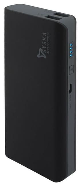 Syska 11000 mAh Power Bank - Black & Grey