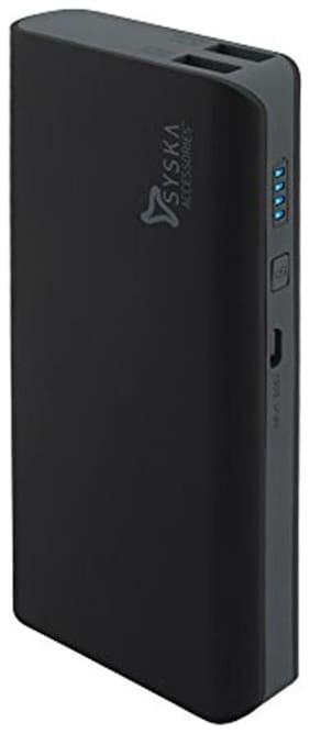 Syska X110 11000 mAh Power Bank - Black  , Grey