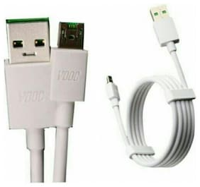 T3S Vooc Charging Cable for Android USB Mobile VOOC 3.0 25W Cable 5V 5A (White)