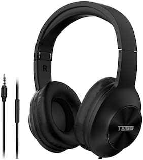 TAGG SoundGear 700 Over Ear Wired Headphones | Built-in Mic | Deep Bass | Stereo Sound | Noise Cancellation | - Black