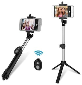 Target Universal Wireless Bluetooth Selfie Stick with Tripod Feature, Remote Shooter, Selfie Stick for Android Smartphones/iOS iPhone (Black)