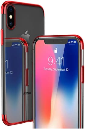 Apple iPhone X TPU Back Cover By TARKAN ( Red )
