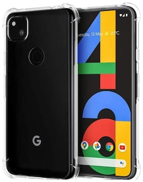 Tarkan Shock Proof Protective Soft Back Case Cover for Google Pixel 4A (Transparent) [Bumper Corners with Air Cushion Technology]